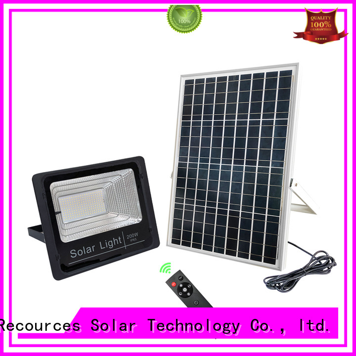 SRS integrated brightest solar flood lights customized for village