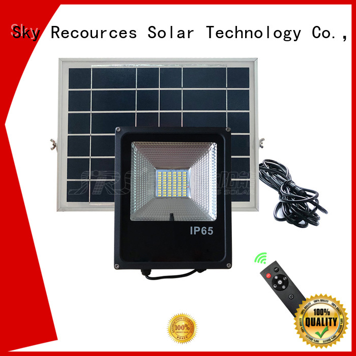 SRS solar powered outdoor flood lights project for home use