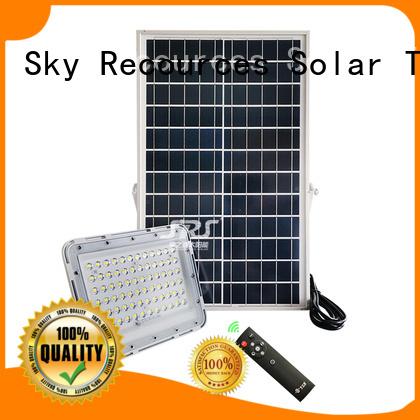SRS best solar security flood lights project for village