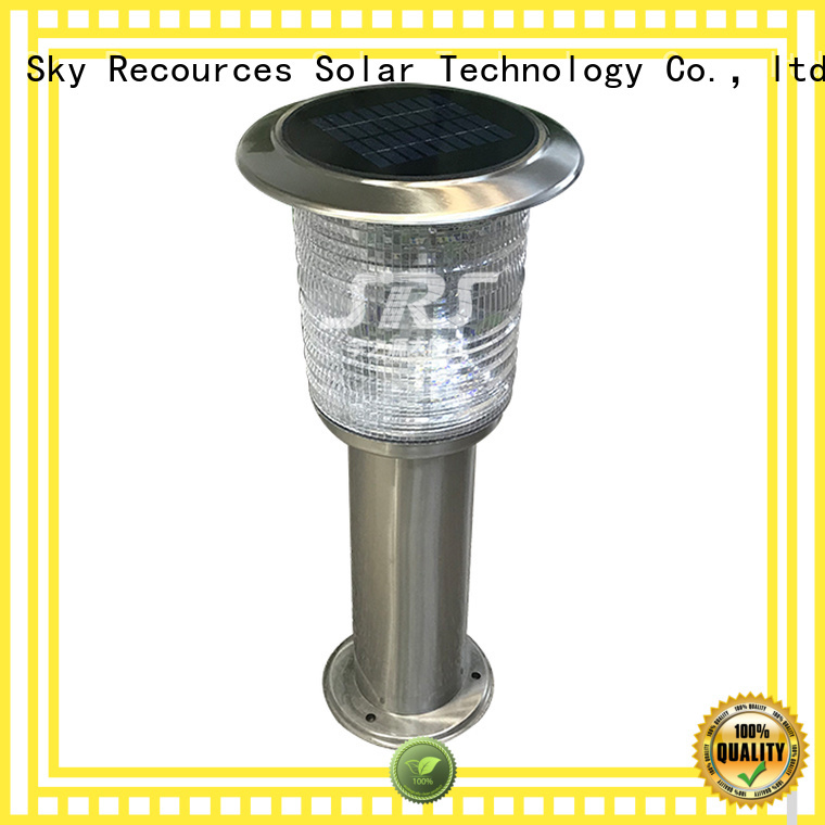 SRS high powered solar lawn lights manufaturer for posts