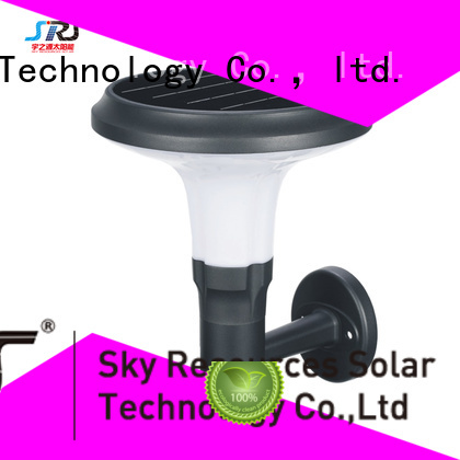 SRS solar powered outdoor garden lights system for posts