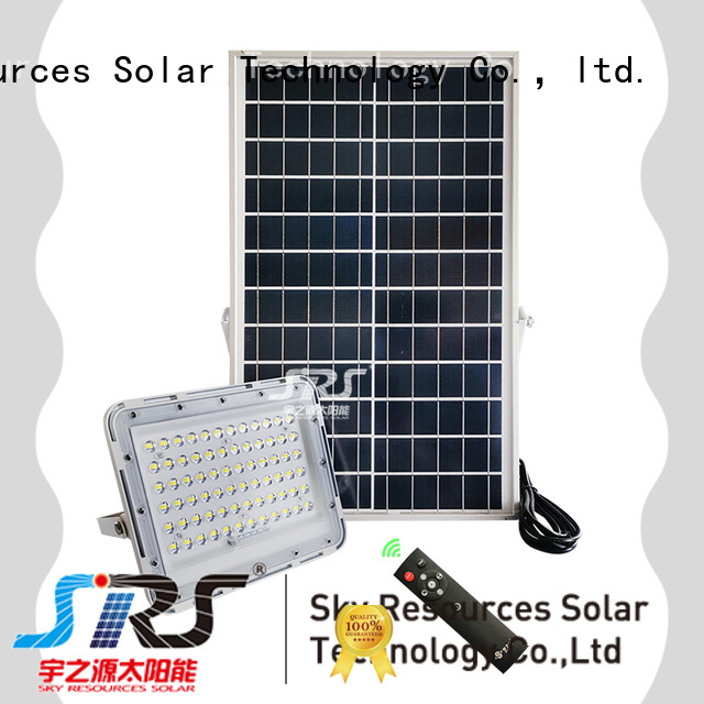 SRS solar powered led flood light wholesale for outside