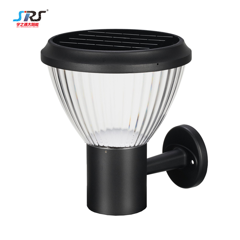 SRS black solar outdoor wall light fixtures company for school-2