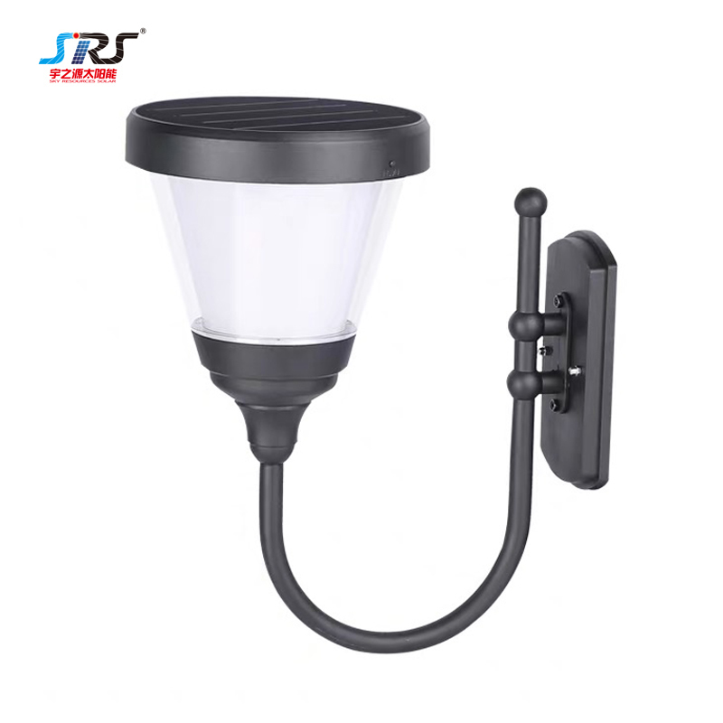 Custom Solar Exterior Wall Light Fixtures with Switch YZY-CP-081-2106-1-B