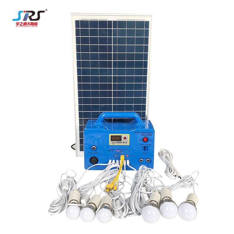 Wholesale Electricity Generation Inverter Portable Solar Lighting System 20w 30w