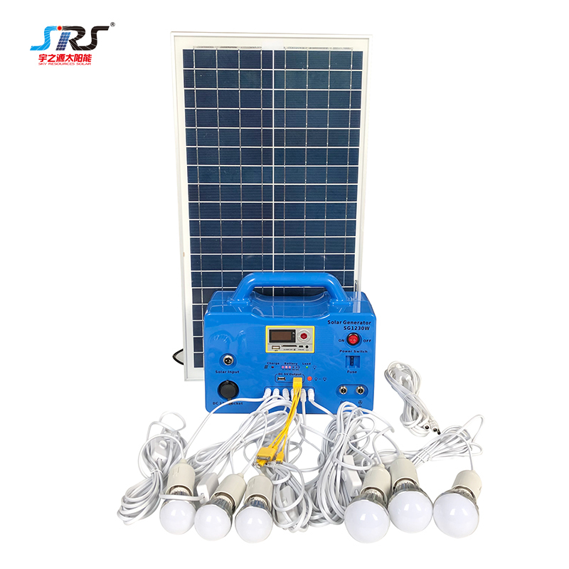Wholesale Electricity Generation Inverter Portable Solar Lighting System 20w 30w