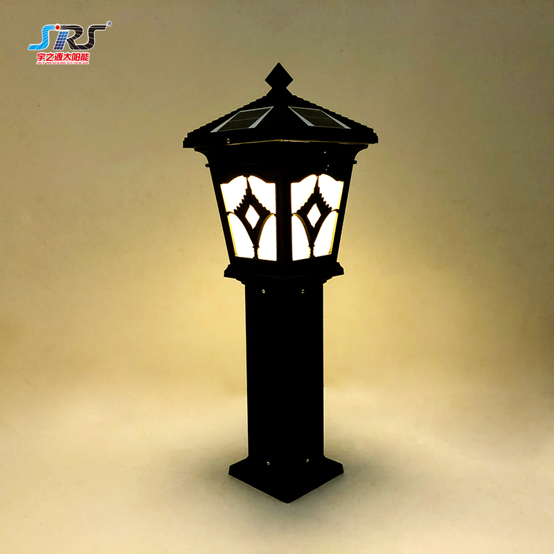 Outdoor Solar Powered Lawn Lights Double Color Garden Lights YZY-CP-094 Supplier