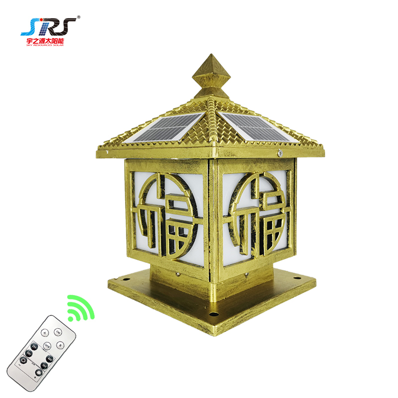 Outdoor Solar Garden Pillar Lights Double Color Solar Gate Pillar Lights YZY-ZT-N238