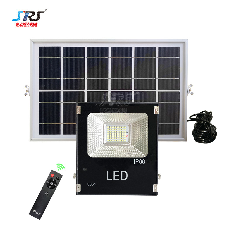 Custom Portable 56W Solar Powered Motion Sensor Flood Light YZY-LL-103