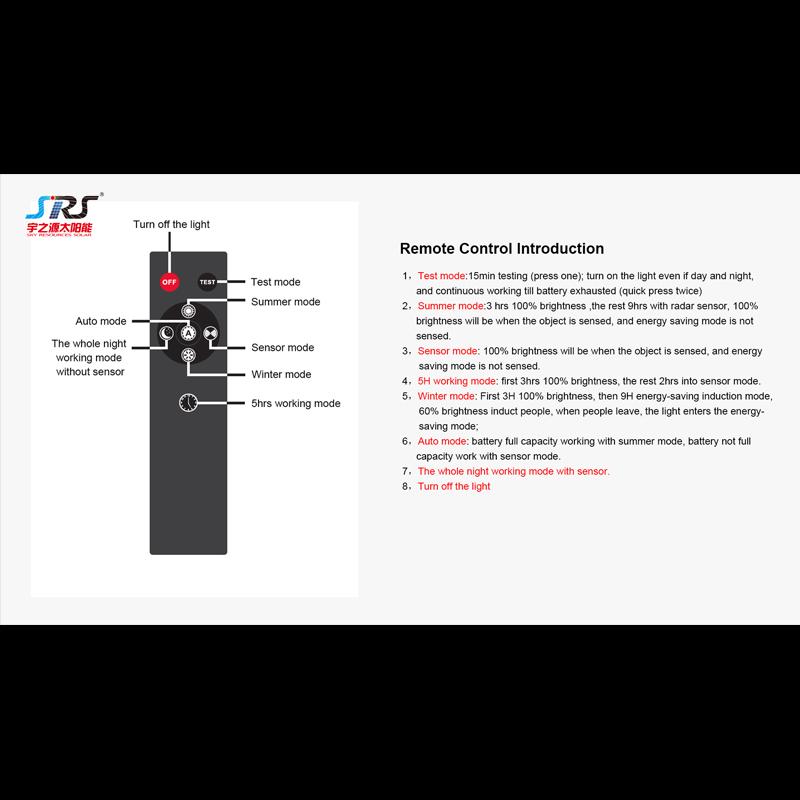Solar Street Light Solar Flood Lamp Remote Control Introduction