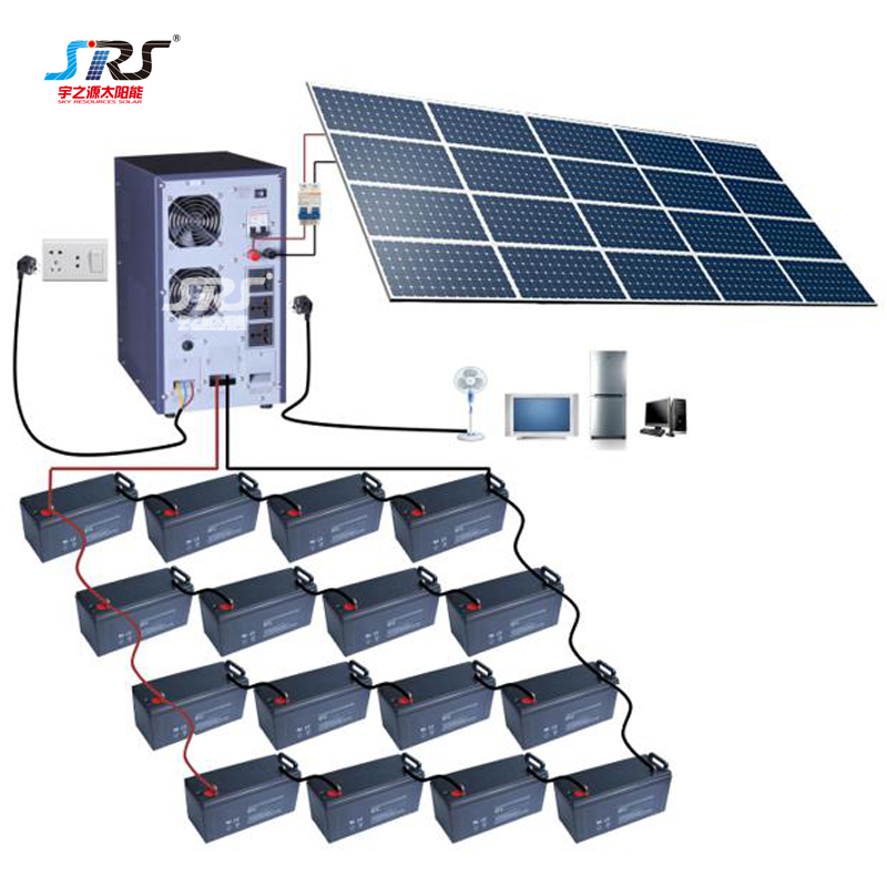Custom Save Energy Indoor Solar Lighting System 1kw-30kw YZY-DZ