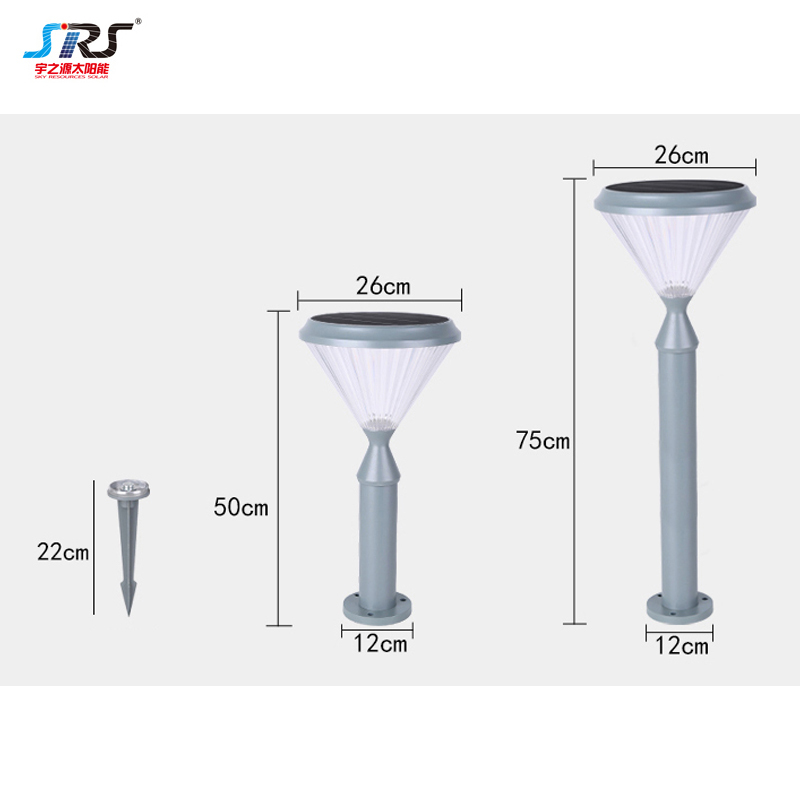 Best Solar Led Lawn Spike Lamp Garden Post Light Outdoor YZY-CP-088-5405