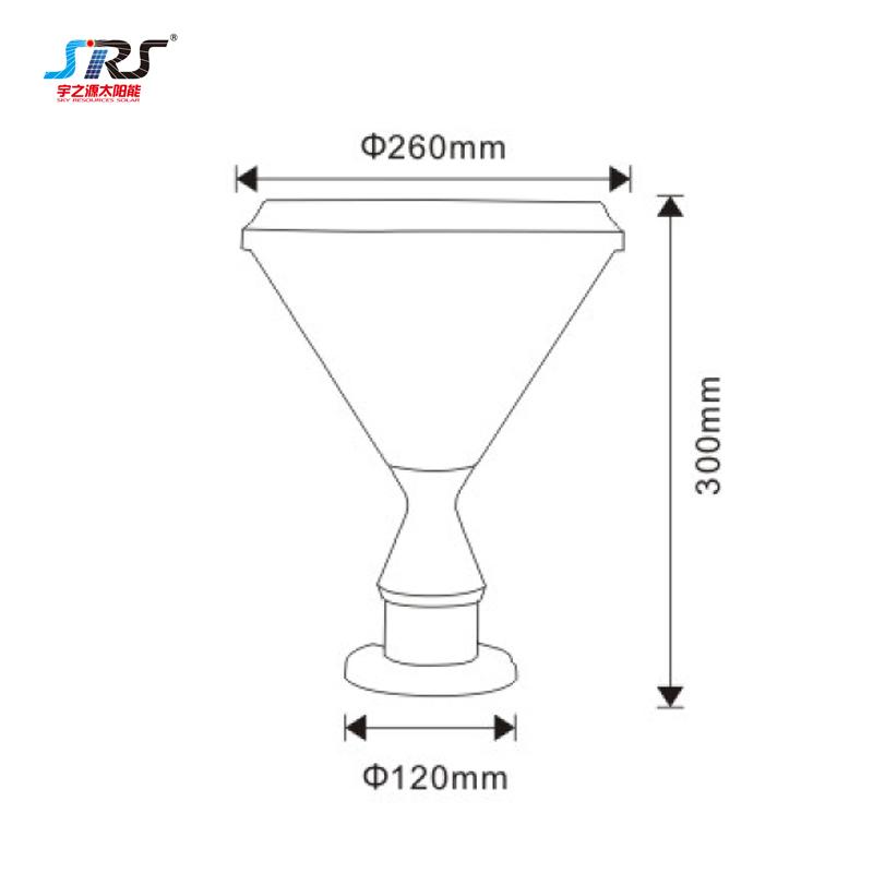 Wholesale Solar Pillar Lantern Outdoor Wall Lights YZY-CP-5405-Z
