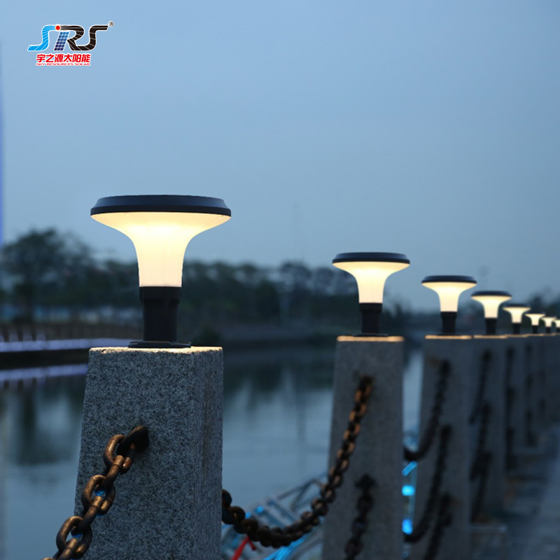 Solar Powered Outdoor Pillar Lights for Gate Wholesale Supplier YZY-CP-084-1004-Z