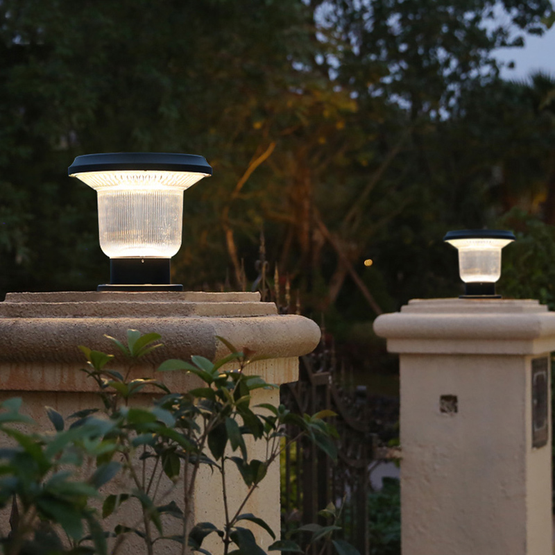 Custom Outdoor Solar Garden Pillar Lights YZY-CP-083-2204-Z