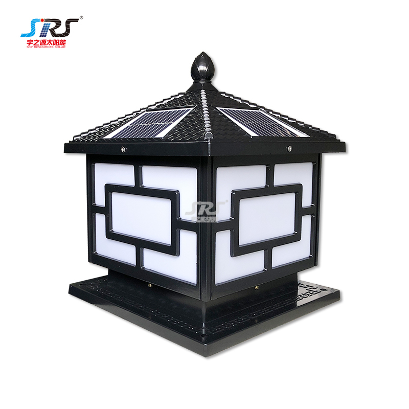 SRS solar pillar lights,solar post light high brigntedss YZY-ZT-N228