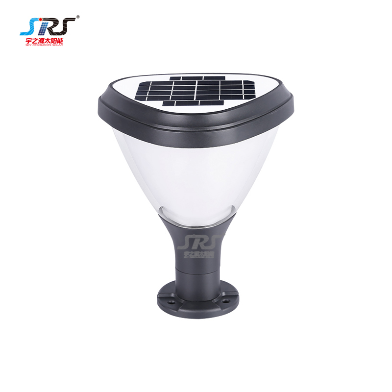 Modern outdoor main gate solar panel pillar lights YZY-ZT-092-2104
