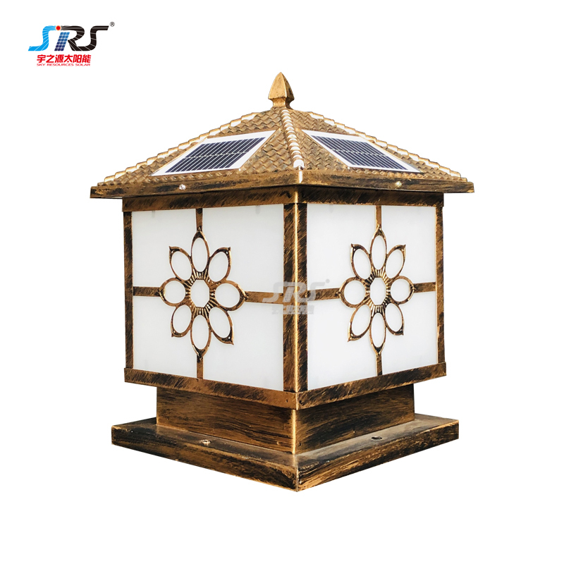 Best modern outdoor solar gate pillar lights YZY-ZT-234