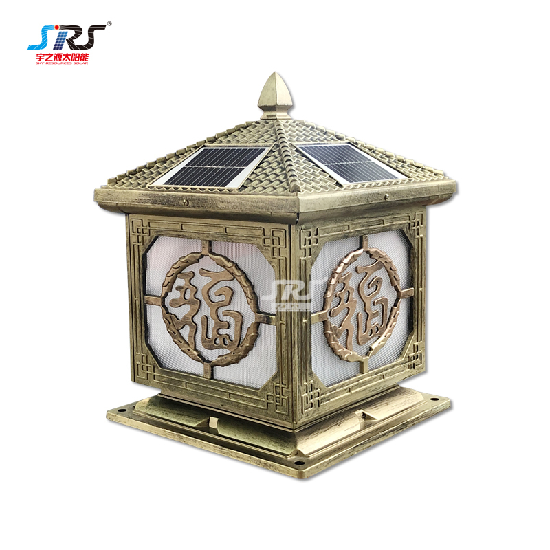 solar panel led low voltage pillar light for house YZY-ZT-N240