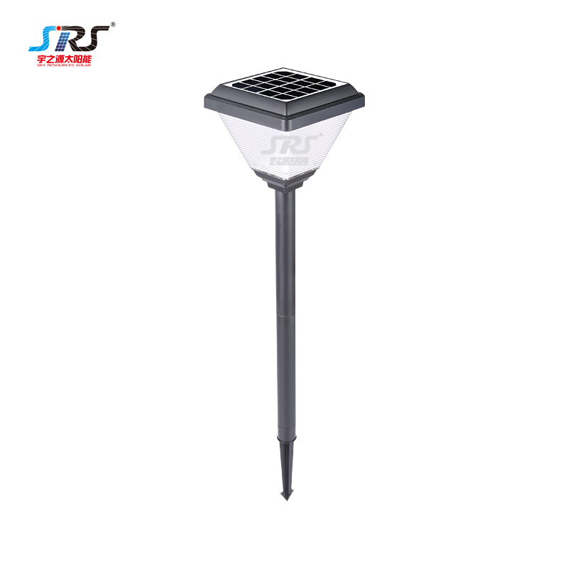 Square solar powered outdoor led lawn lights for garden YZY-CP-095-0406