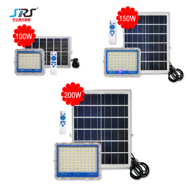 New high brightness 100w 150w 200w solar power led flood light YZY-LL-127/128/129
