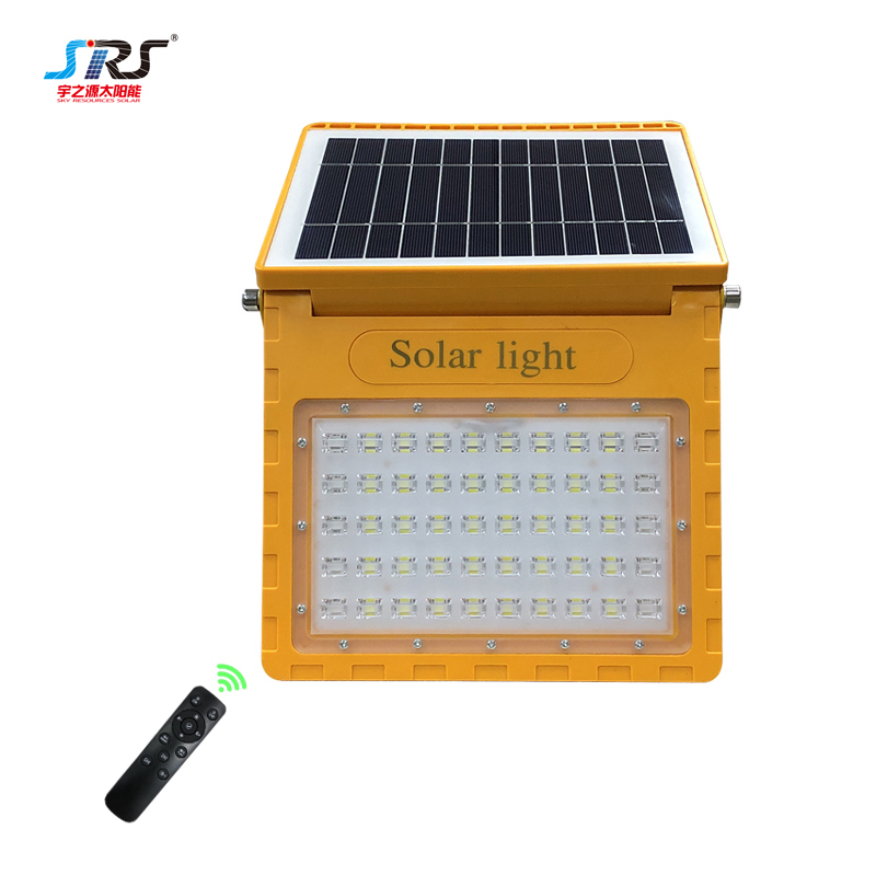 Best Angle-adjustable Solar Powered Flood Lights 2021 Remote Control YZY-PVY-024
