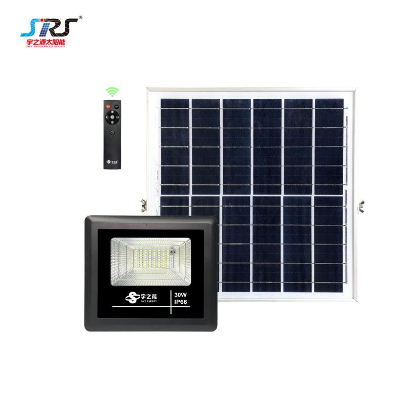 Custom Ourdoor Solar Led Flood Lights With Remote Control 30W YZY-LL-104