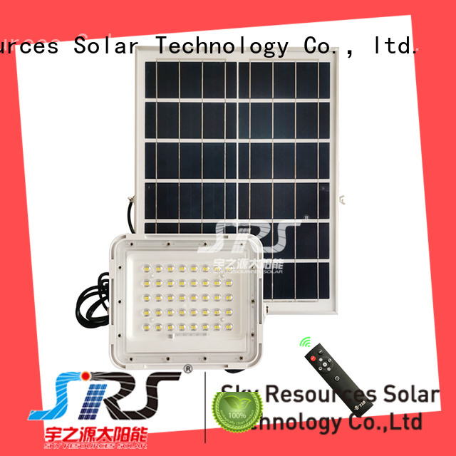 bifacial solar powered outdoor flood lights project for home use
