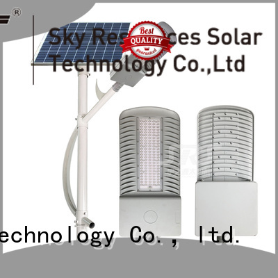 bifacial solar street light with lithium ion battery automatic configuration for flagpole