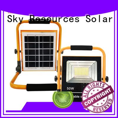 SRS lamp brightest solar flood lights outdoor project for village