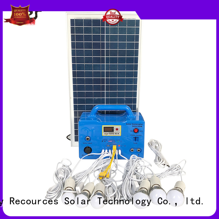 SRS portable best off grid solar system application