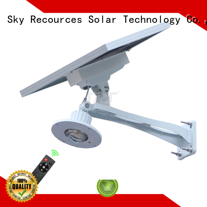 fix semi-integrated solar street light with battery for flagpole