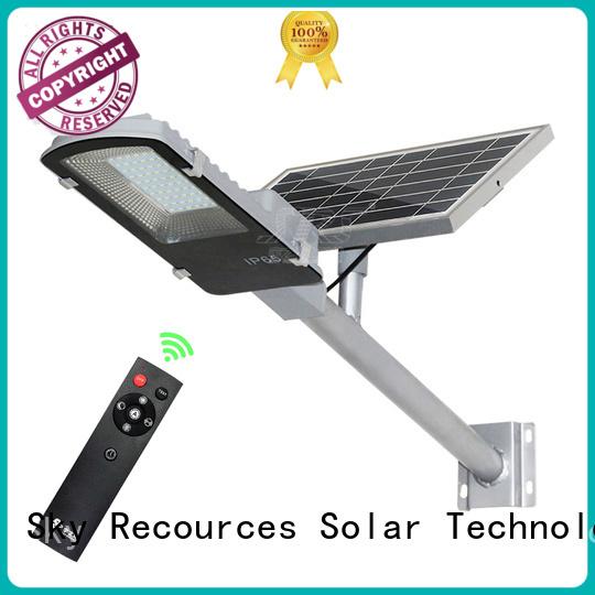 SRS solar road light diagram for garden