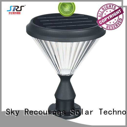 SRS solar powered outdoor garden lights supplier for posts