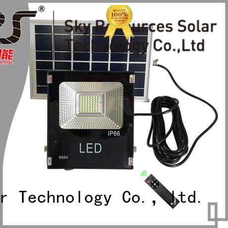 SRS bifacial solar flood light project for home use