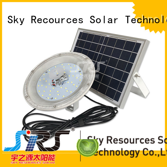 SRS bifacial brightest solar flood lights outdoor customized for home use