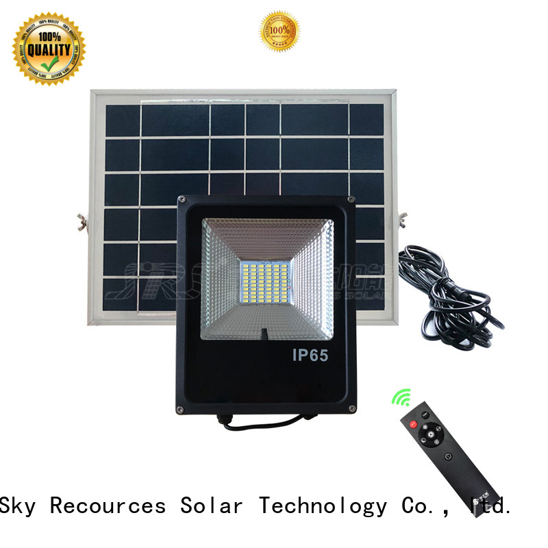 advantages of solar flood light series for home use
