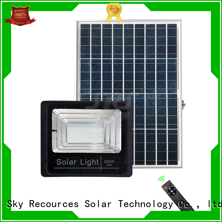 SRS bifacial solar led motion flood light with good price for village