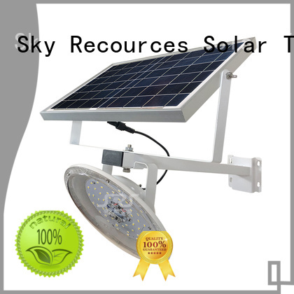 SRS bifacial solar street light set with battery for flagpole