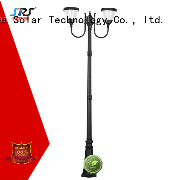 SRS integrating solar powered garden lights products for posts