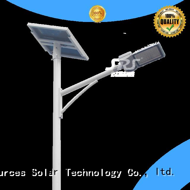 install semi-integrated solar street light configuration for garden