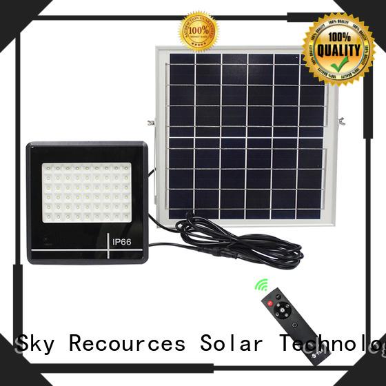 SRS advantages of led solar flood lights outdoor wholesale for village