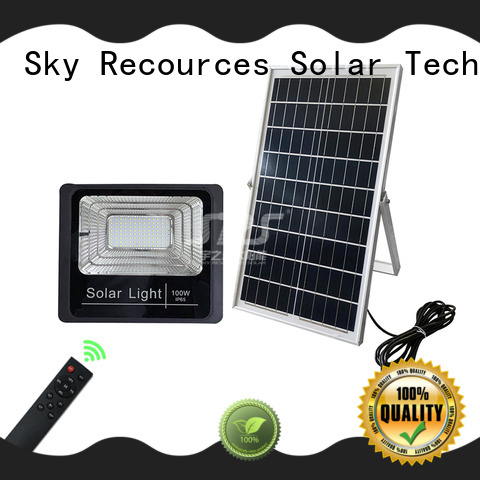 SRS smart solar pir floodlight certification for village