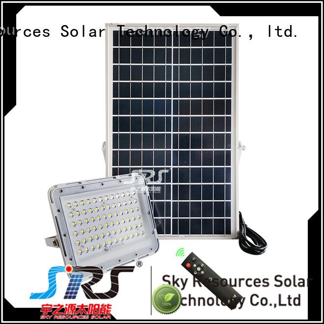 SRS bifacial solar flood lights series for village
