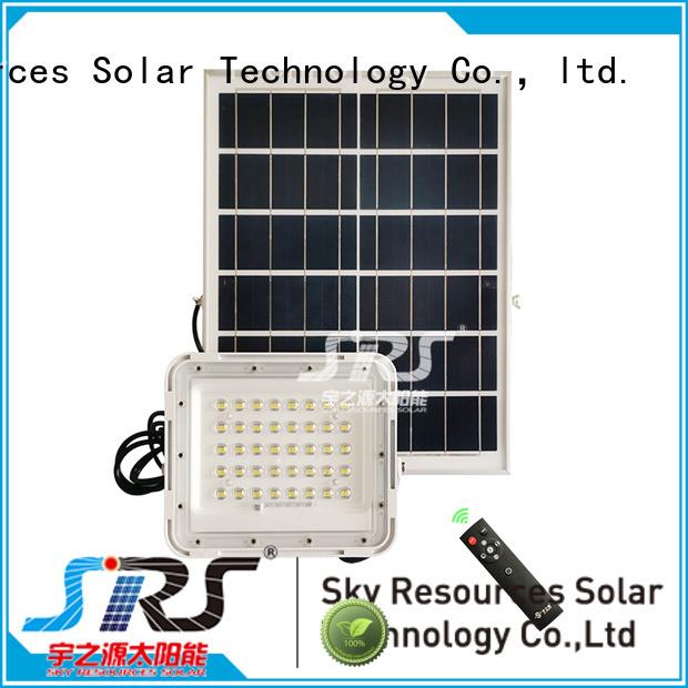 advantages of solar flood light series for village