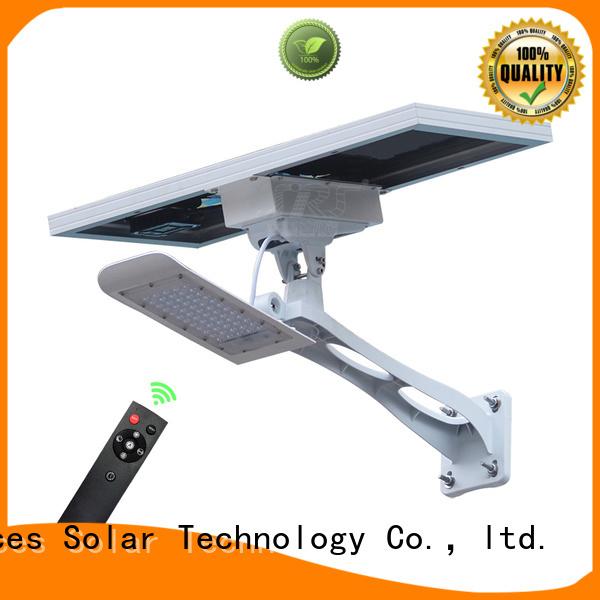 SRS luminous solar street light configuration for fence post