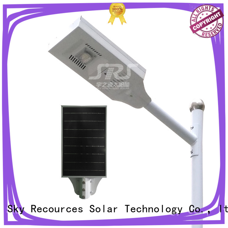 SRS solar street light with remote for public lighting