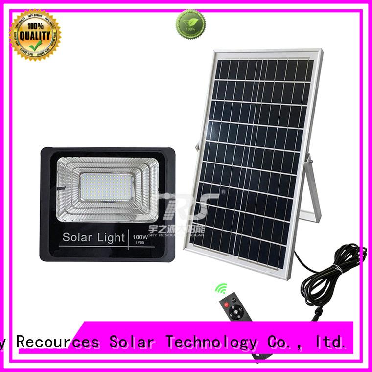 SRS smart best solar motion flood light certification for outside