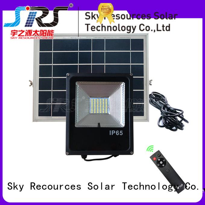 SRS integrated solar led sensor floodlight wholesale for outside