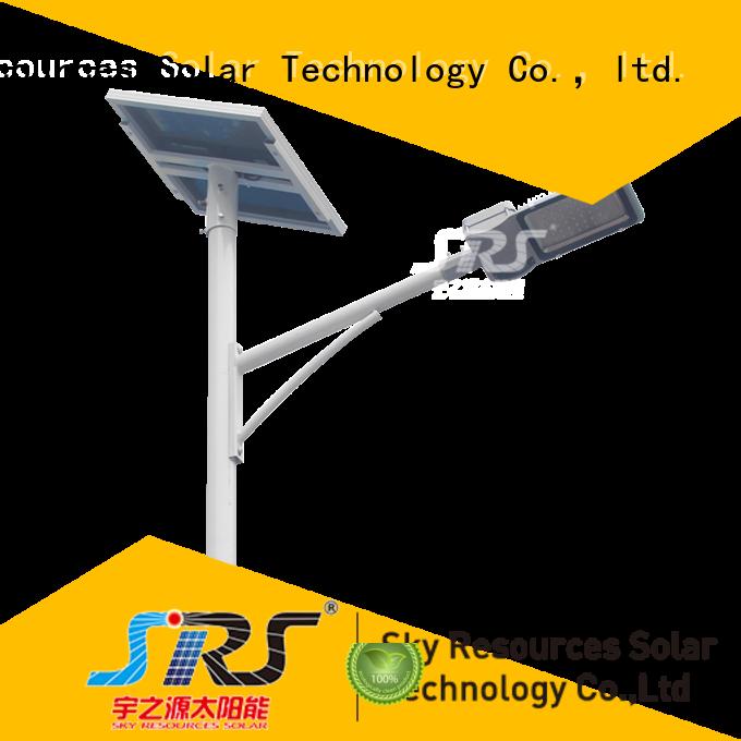 bifacial solar street light set configuration for garden